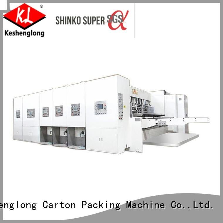 Hot flexo printing and die cutting machine jumbo three color slotting KeShengLong Brand