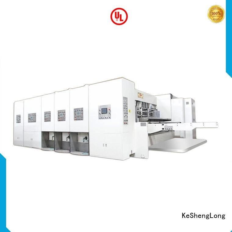 flexo printing and die cutting machine machine cutting automatic printing slotting die cutting machine KeShengLong Warranty