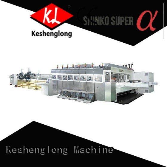 KeShengLong Brand die cutting control HD flexo printer slotter flat
