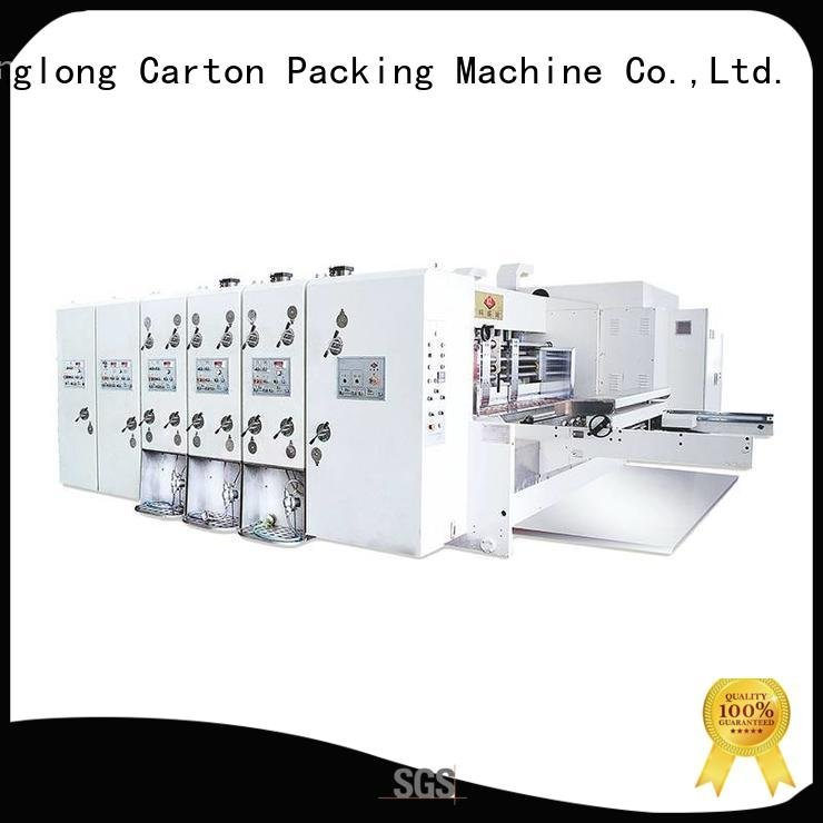 KeShengLong three color automatic printing slotting die cutting machine four color die