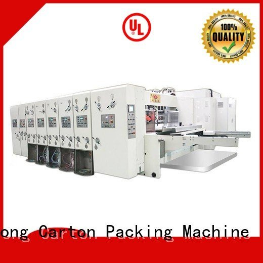 flexo printing and die cutting machine four color cutting automatic printing slotting die cutting machine KeShengLong Brand