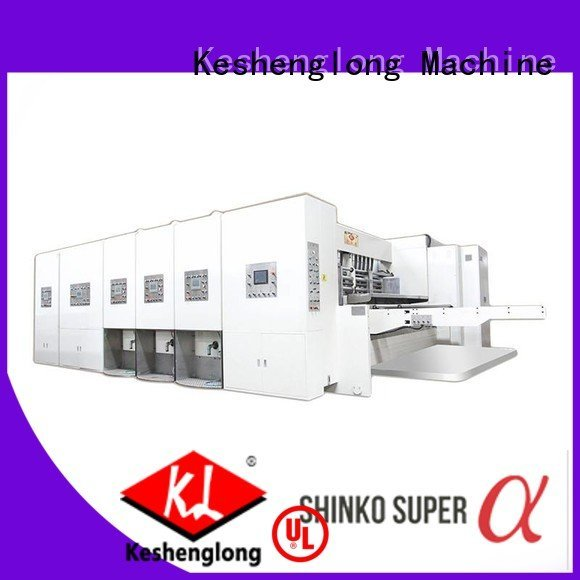 flexo printing and die cutting machine computerized KeShengLong Brand automatic printing slotting die cutting machine