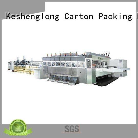 K9-Type top flat automatic KeShengLong HD flexo printer slotter