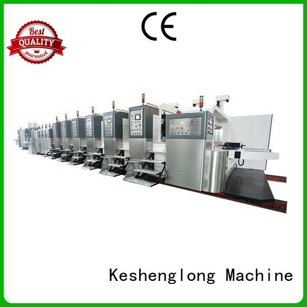 KeShengLong Brand fixed movable gluing HD flexo printer slotter control