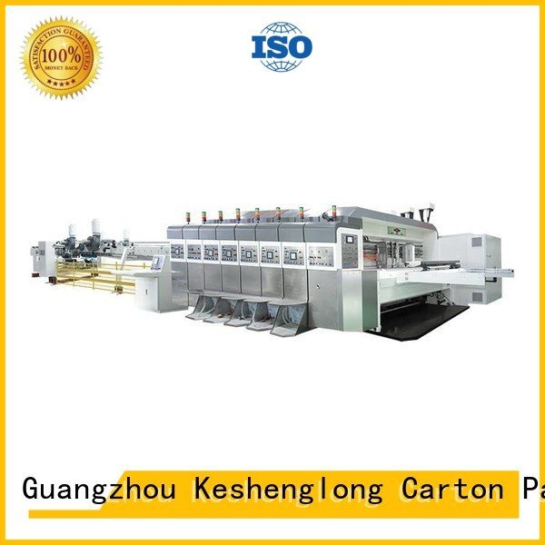 KeShengLong inline K8-Type HD flexo printer slotter goutering fixed