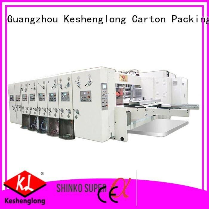 flexo three color six color automatic printing slotting die cutting machine KeShengLong