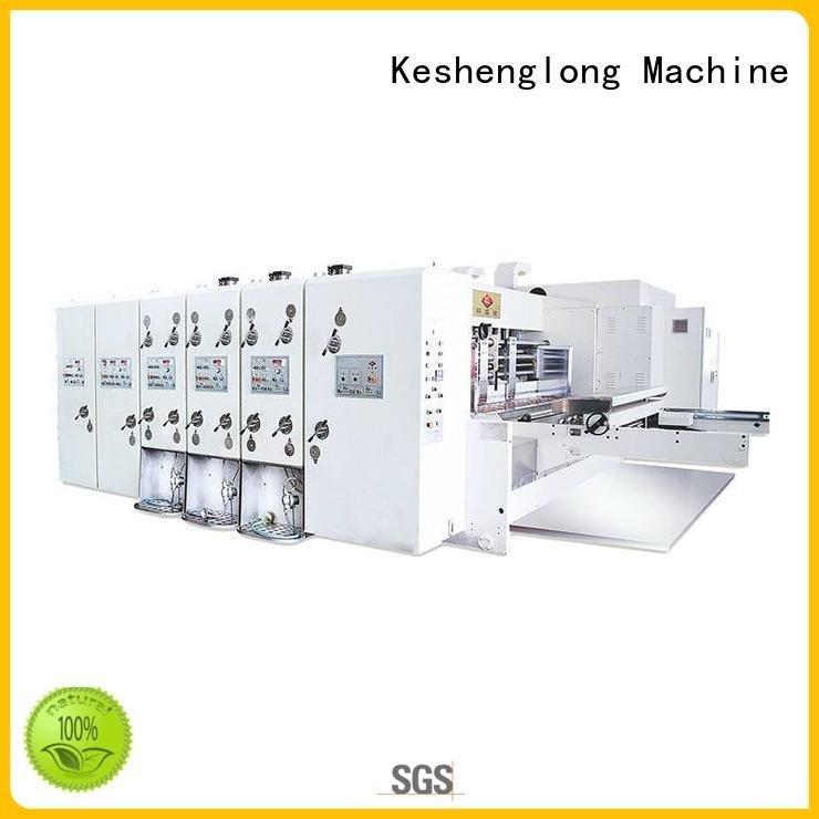 Quality flexo printing and die cutting machine KeShengLong Brand jumbo automatic printing slotting die cutting machine