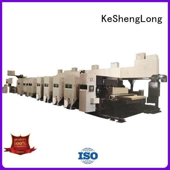 In-line China KeShengLong flexo printer slotter machine