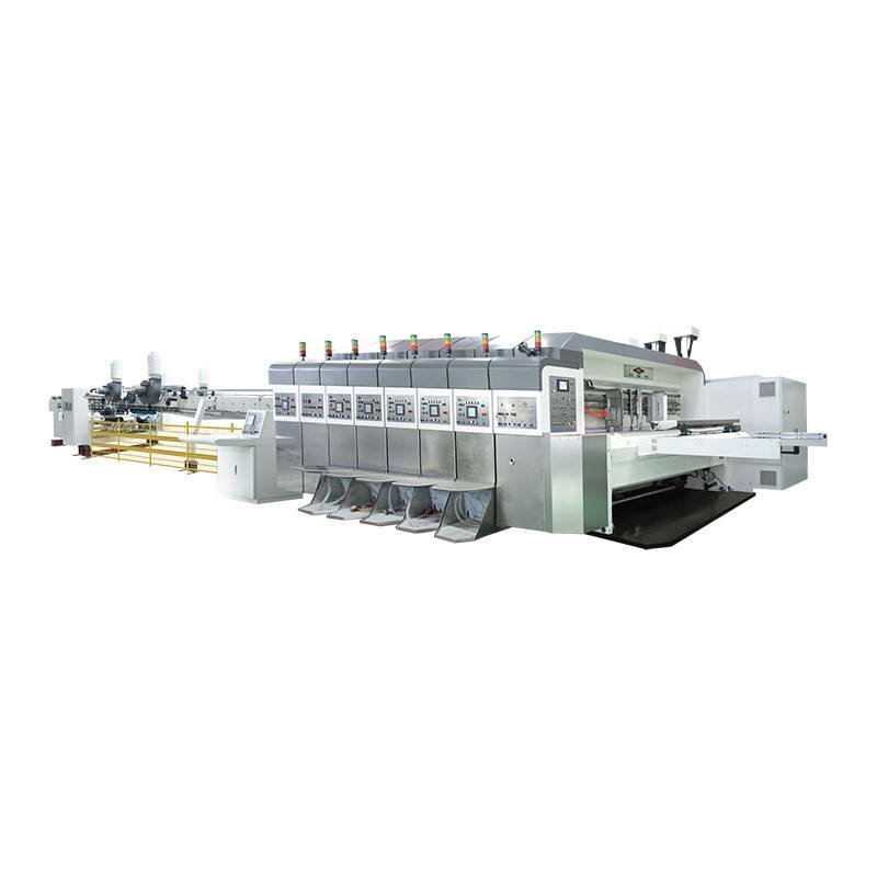 KL - Servo Control Computerized Printing Slotting Die-cutting In-line Folding Gluing Goutering Ejecting Machine (Movable Structu