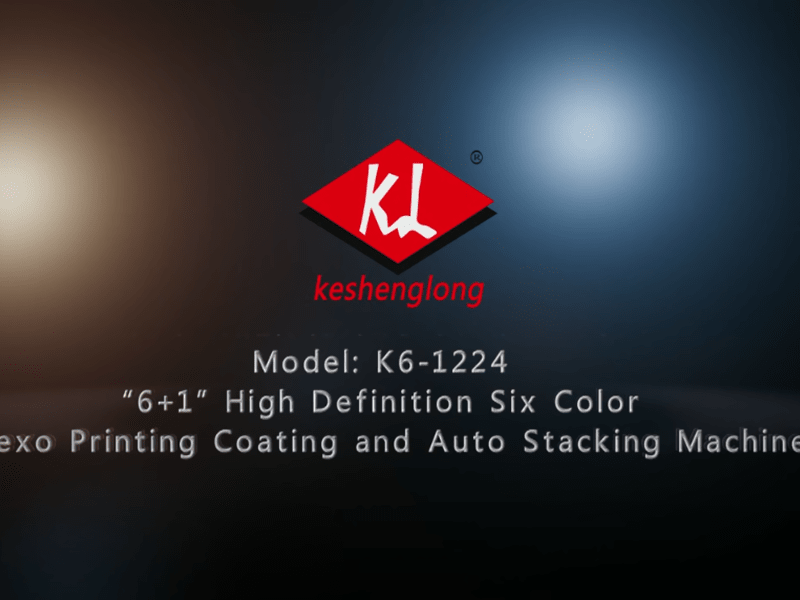 K6-1224 6+1 High Definition six color exo printing coating and auto stacking machine