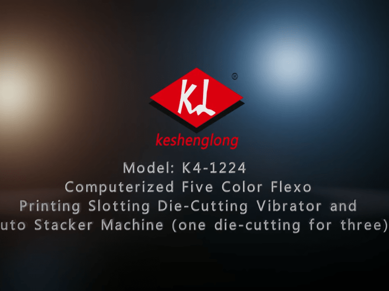 K4-1224 Computerized Five Color Flexo Printing Slotting Die-Cutting Vibratoruto Stacker Machine (one die-cutting for three)
