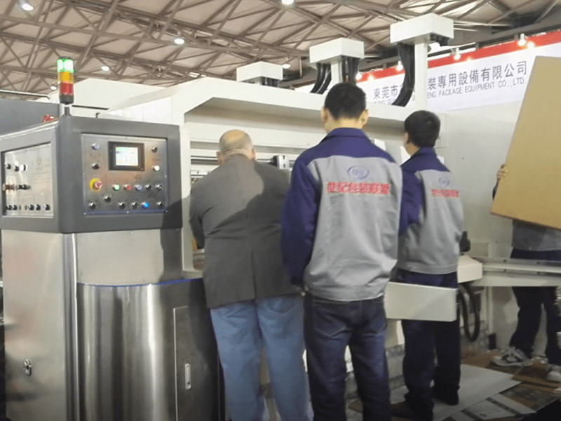 K8-Type Fixed Automatic Printing Slotting Die-cutting Machine Show in Corrugated exhibition