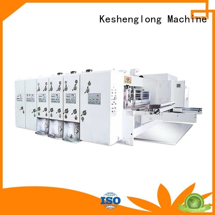 Hot flexo printing and die cutting machine machine automatic printing slotting die cutting machine cutting KeShengLong