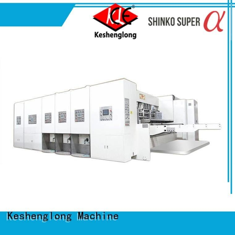 four color slotting KeShengLong flexo printing and die cutting machine