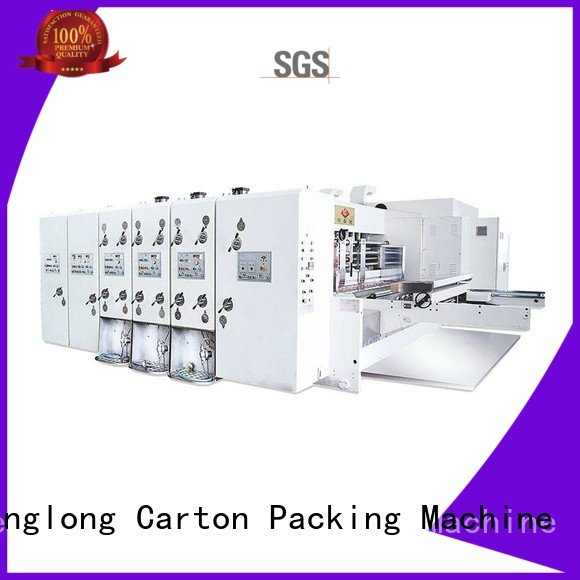 die three color computerized slotting KeShengLong flexo printing and die cutting machine