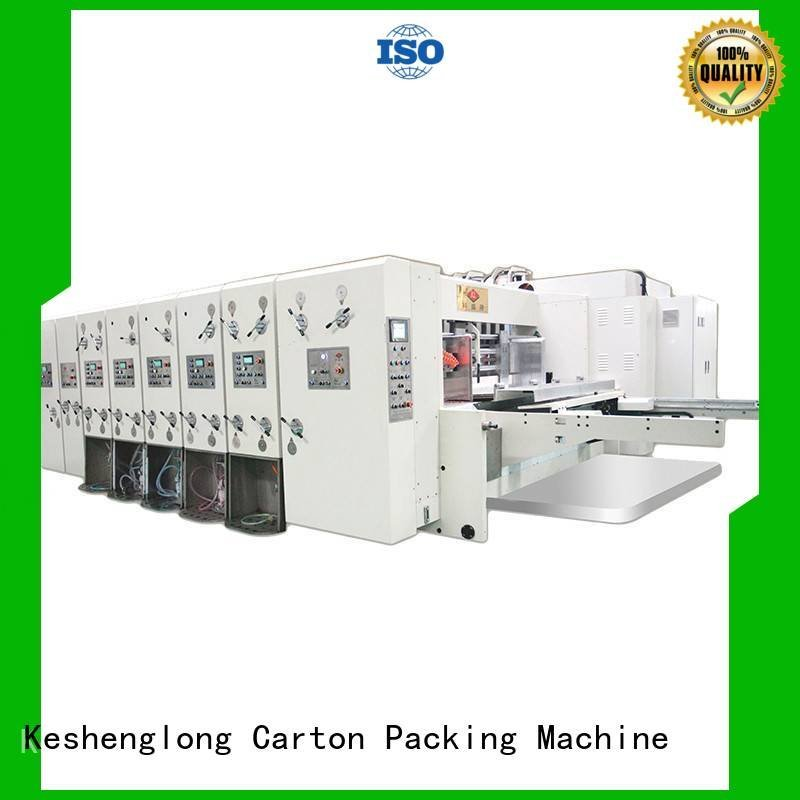 flexo printing and die cutting machine cutting automatic printing slotting die cutting machine KeShengLong
