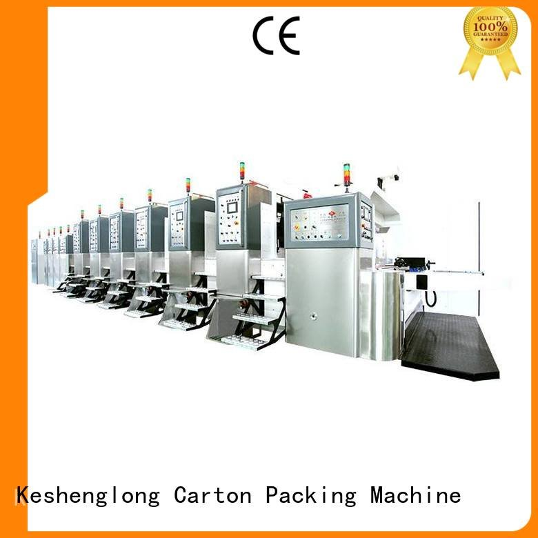 KeShengLong Brand printing) ejecting HD flexo printer slotter folding cutting