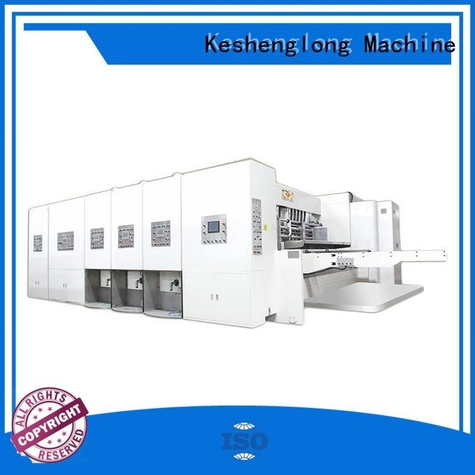 flexo printing and die cutting machine six color three color OEM automatic printing slotting die cutting machine KeShengLong