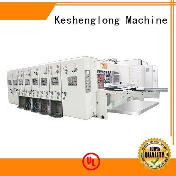 flexo printing and die cutting machine automatic automatic printing slotting die cutting machine KeShengLong Brand