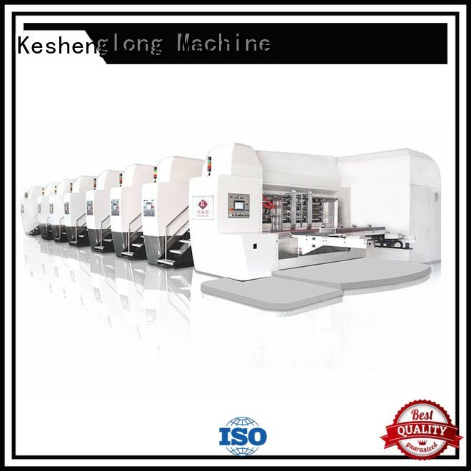 KeShengLong Brand structure gluing slotting HD flexo printer slotter K9-Type