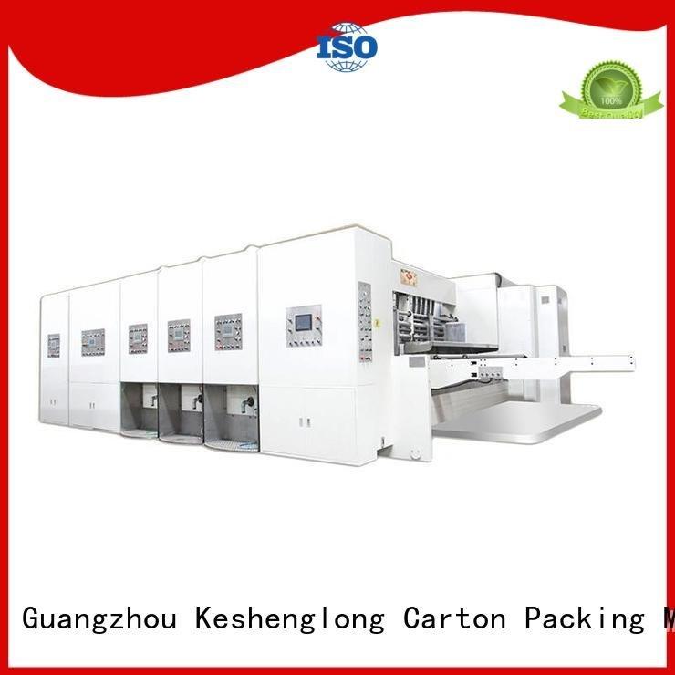 printing automatic printing slotting die cutting machine KeShengLong flexo printing and die cutting machine