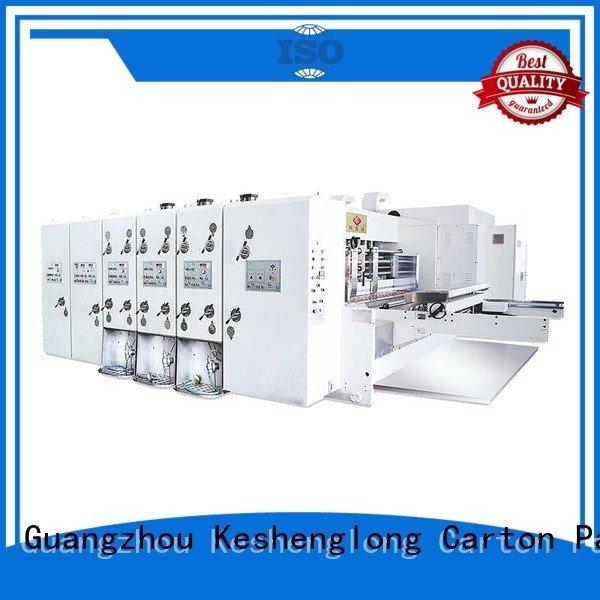 six color flexo computerized KeShengLong automatic printing slotting die cutting machine