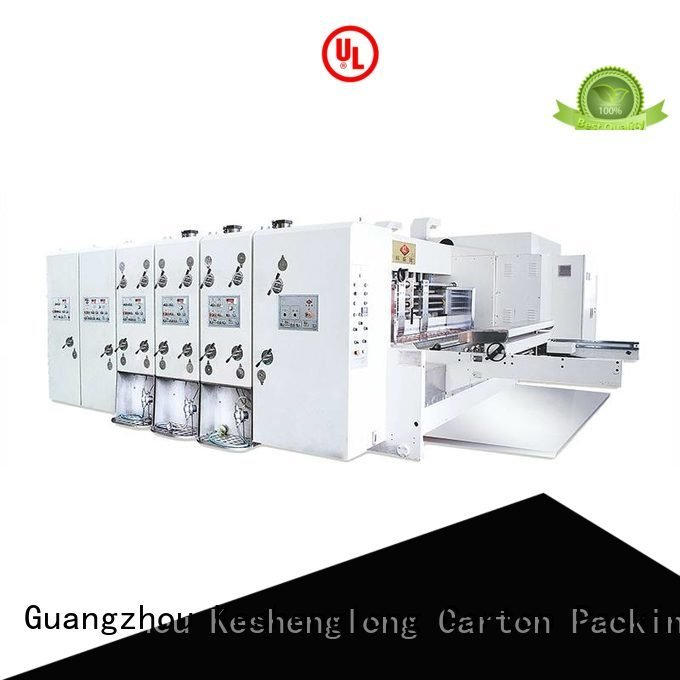 KeShengLong Brand six color flexo slotting automatic printing slotting die cutting machine computerized