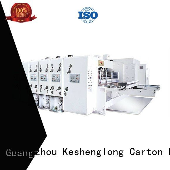 computerized flexo KeShengLong automatic printing slotting die cutting machine