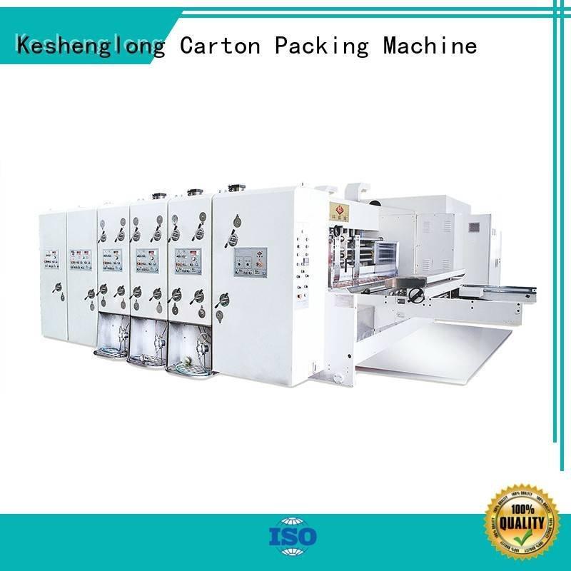 KeShengLong Brand four color jumbo flexo printing and die cutting machine computerized printing