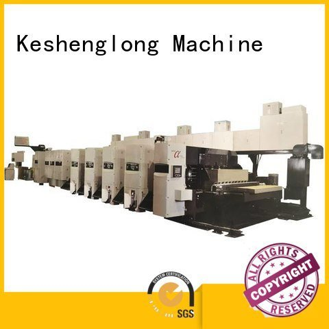 KeShengLong flexo printer slotter 6 color cardboard diecutter Carton