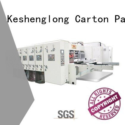 computerized machine six color cutting KeShengLong automatic printing slotting die cutting machine