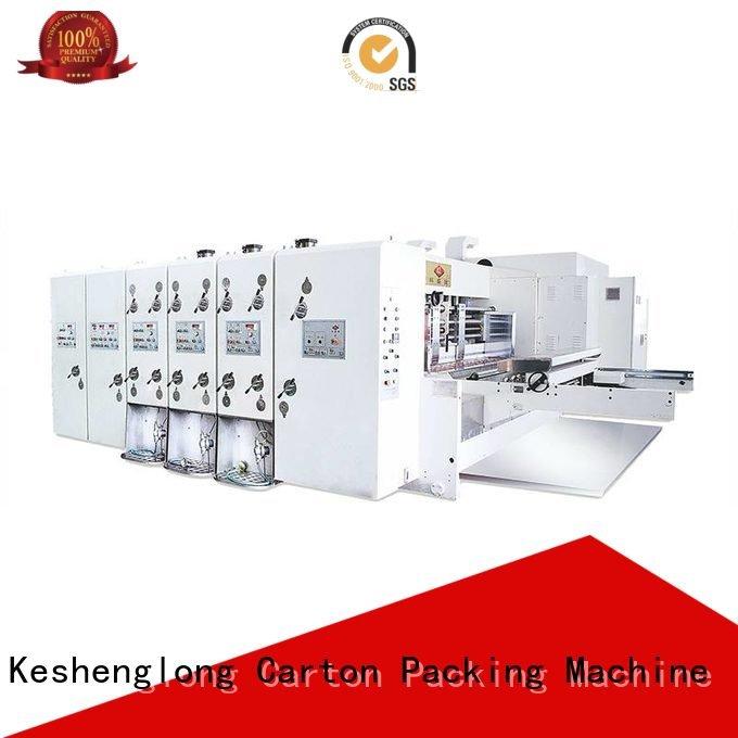 KeShengLong flexo printing and die cutting machine four color printing slotting die