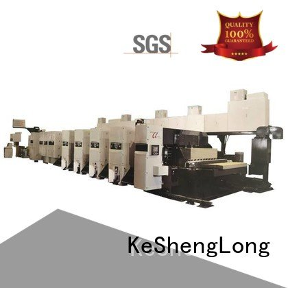 KeShengLong Brand 3 color diecutter flexo printer slotter gluer curled