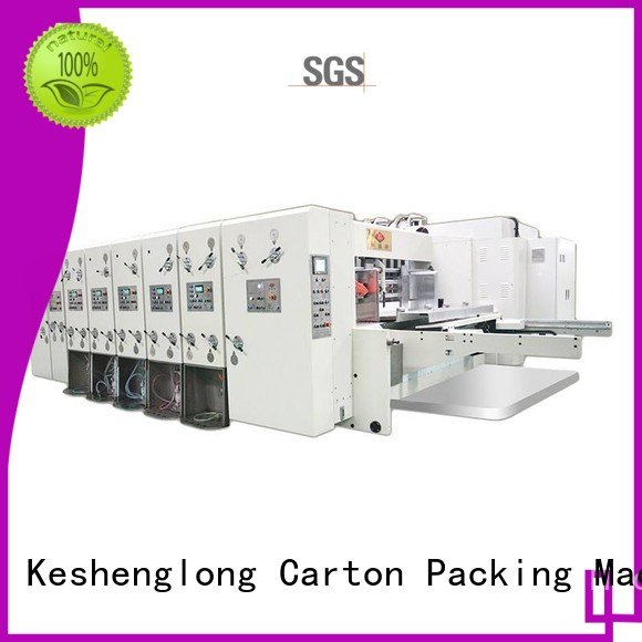computerized flexo printing Hot flexo printing and die cutting machine slotting printing cutting KeShengLong Brand slotting