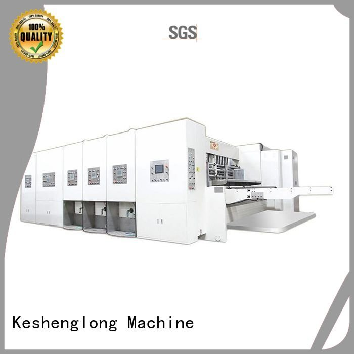 flexo printing and die cutting machine computerized printing OEM automatic printing slotting die cutting machine KeShengLong