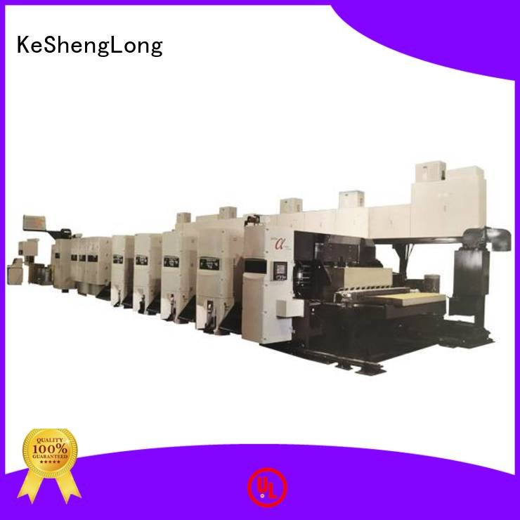 diecutter 3 color KeShengLong flexo printer slotter machine