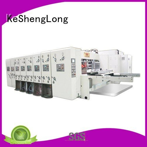 flexo printing and die cutting machine machine KeShengLong Brand automatic printing slotting die cutting machine