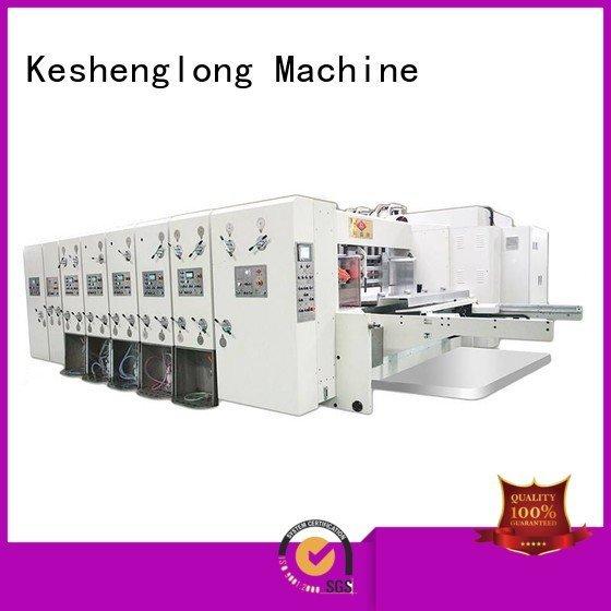 KeShengLong Brand flexo slotting flexo printing and die cutting machine die cutting