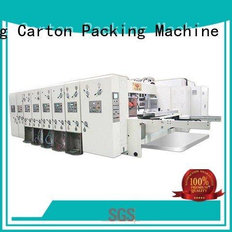 flexo printing and die cutting machine four color automatic printing slotting die cutting machine KeShengLong Brand