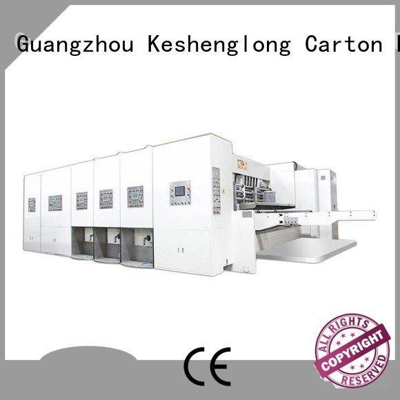 KeShengLong Brand die flexo automatic printing slotting die cutting machine four color jumbo
