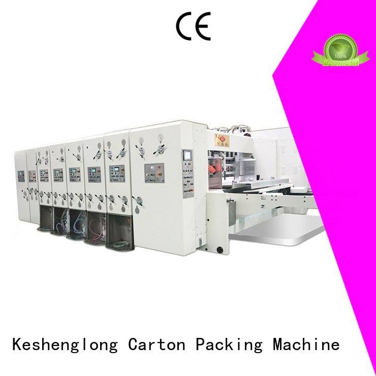 KeShengLong jumbo die automatic printing slotting die cutting machine printing computerized