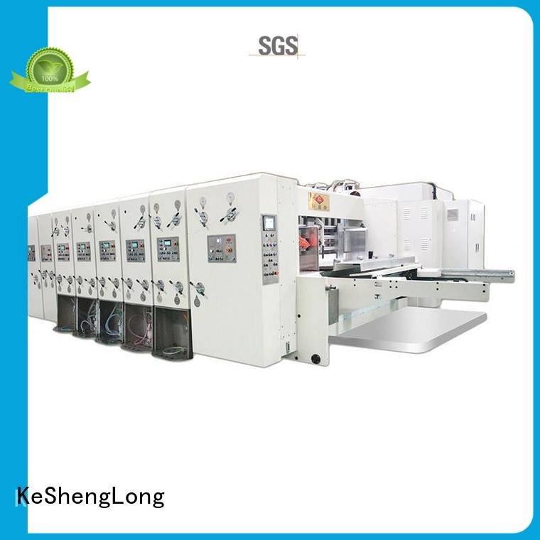 KeShengLong Brand three color cutting die flexo printing and die cutting machine