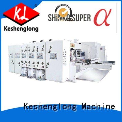 KeShengLong Brand computerized automatic die flexo printing and die cutting machine