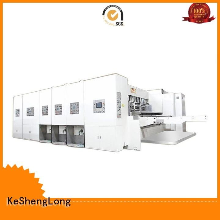 KeShengLong Brand printing automatic flexo printing and die cutting machine three color slotting