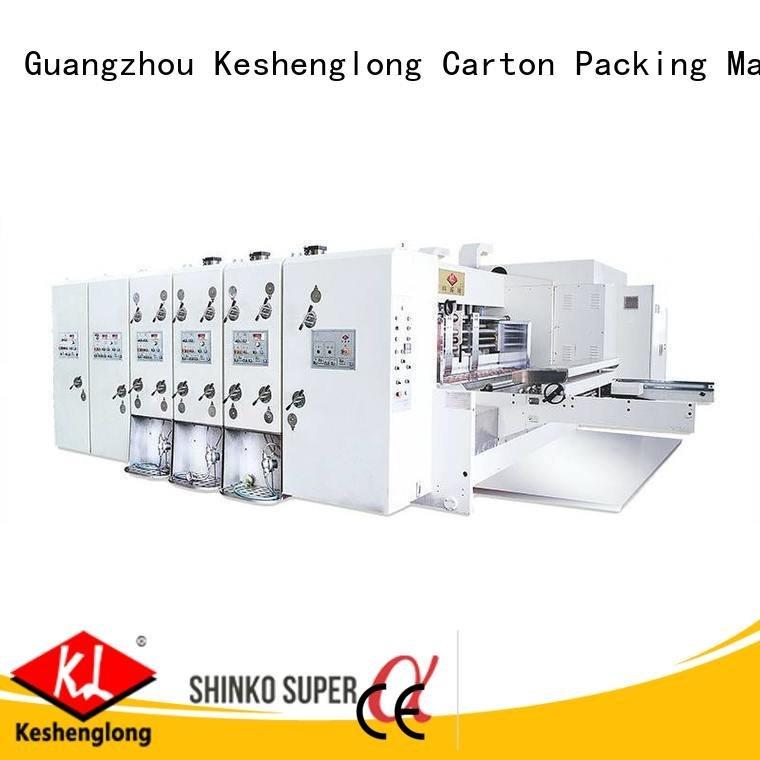 flexo printing and die cutting machine printing KeShengLong Brand automatic printing slotting die cutting machine