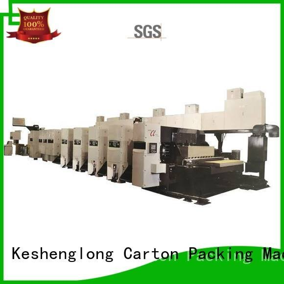 KeShengLong 4 color China printer flexo printer slotter flexo
