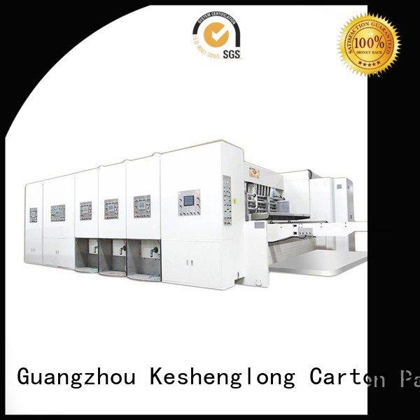 KeShengLong Brand automatic flexo automatic printing slotting die cutting machine computerized six color