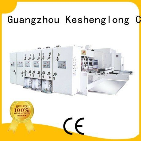 three color automatic jumbo KeShengLong automatic printing slotting die cutting machine