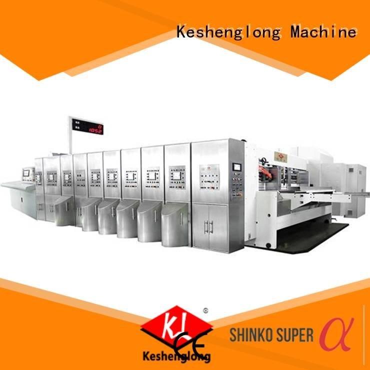 KeShengLong Brand slotting computerized control HD flexo printer slotter flat