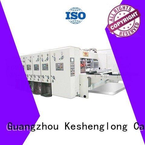 flexo printing and die cutting machine four color printing automatic printing slotting die cutting machine KeShengLong Warranty